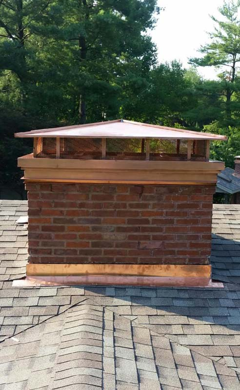 copper chimney cap